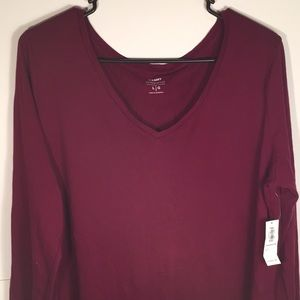Old Navy Womens Everywear Large Top Magenta NEW